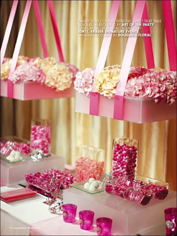 candy buffet florals.....amazing!