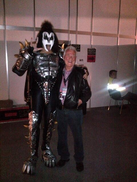 Frank #Stronach mit Gene Simmons (#KISS) am #Novarock. Zielgruppenangebot für die Generation 50+... :-)