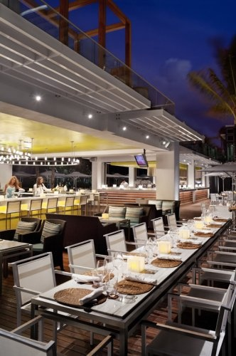 La Cote at the Fontainebleau Miami Beach. We ate lunch here.