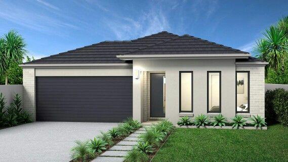 """Hotondo homes 2014 design black and white facade """"haven"""""""