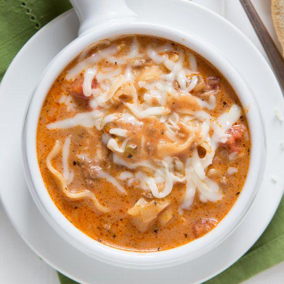 Slow Cooker Lasagna Soup | Baked by Rachel