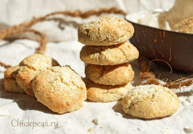 Мягкое овсяно-кокосовое печенье