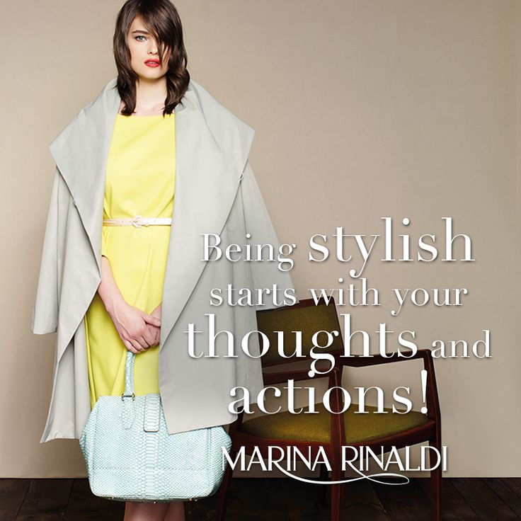 Being stylish starts with your thoughts and actions!