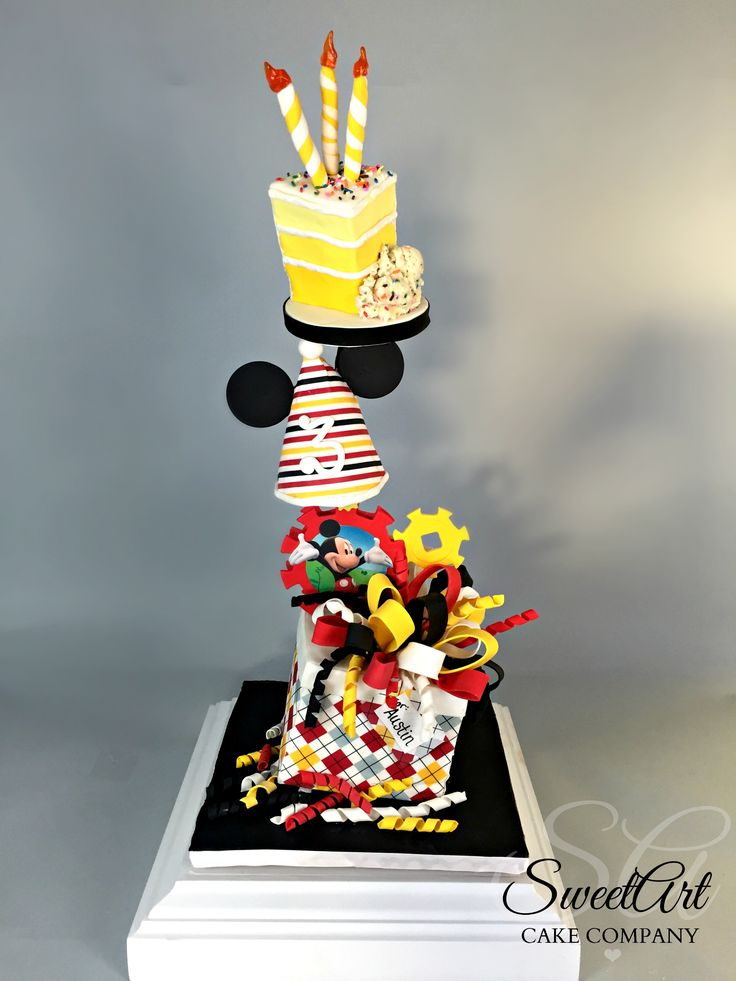 Gravity Defying Mickey Mouse Cake