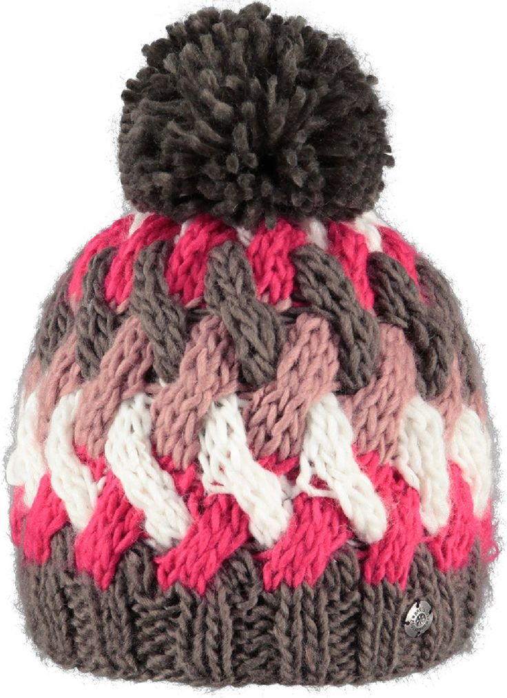 Barts Barbara Beanie Hat for Ladies in Heather Brown