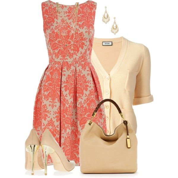 Lovely Beige and Orange Combination