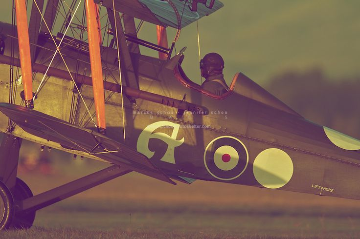 A pilot of The Vintage Aviator's SE.5A awaits take-off. ©2012 Marcus Schoo