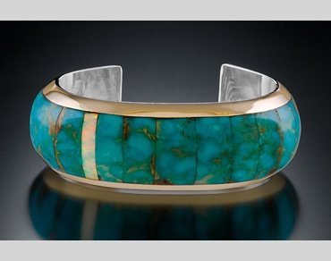 Judith Foster sterling & inlaid turquoise