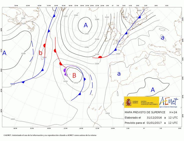 El tiempo del 1 de año: Grandes heladas y mucho frío en casi todo el país. Alguna lluvia en Galicia.