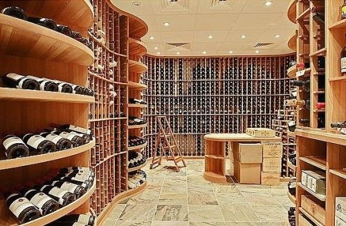 This wine cellar is more like a wine retail shop and belongs to Home Depot Co-Founder Bernie Marcus.