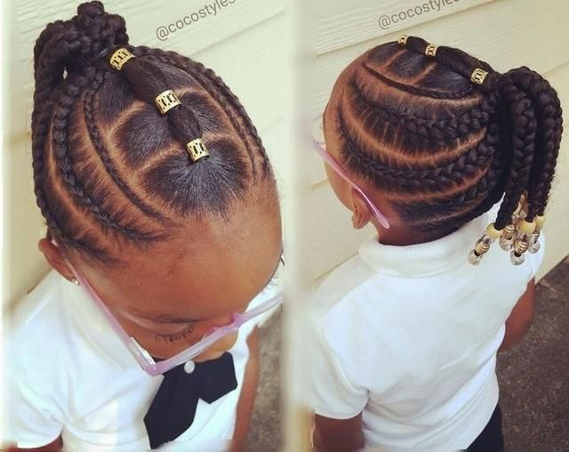 African American Braids With A Part For Girls Best 25 Kids Braided Hairstyles Ideas On Pin Kids Braided Hairstyles Cool Braid Hairstyles Natural Hair Styles
