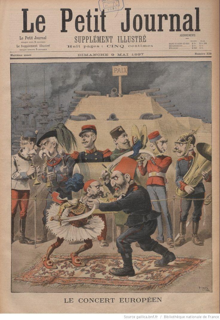 """Le Petit Journal: Aralarında II.Abdülhamid'in müttefiki olan Avrupa Devletleri Osmanlı -Yunan Savaşı'nı seyrediyor. Murad Çobanoğlu @muradcobanoglu  4 Ara Osmanlı'nın silah anlaşması yaptığı Almanya'nın da olduğu Avrupalı Devletler, savaşı izliyor başlık;""""Avrupa Konseri"""""""