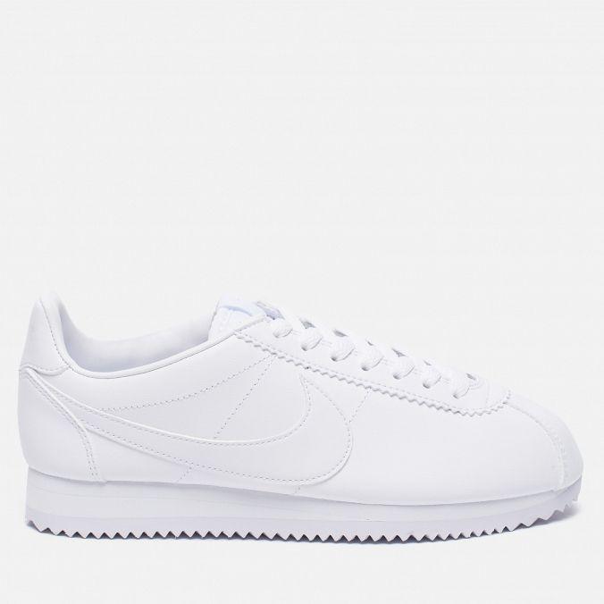 Женские кроссовки Nike Classic Cortez Leather White/White