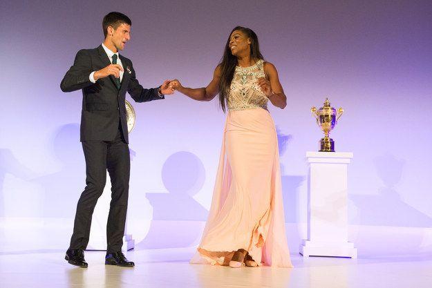 It was a fabulous match-winning performance. | Wimbledon Champions Serena Williams And Novak Djokovic Dancing Together Is Disco Fabulous - BuzzFeed News