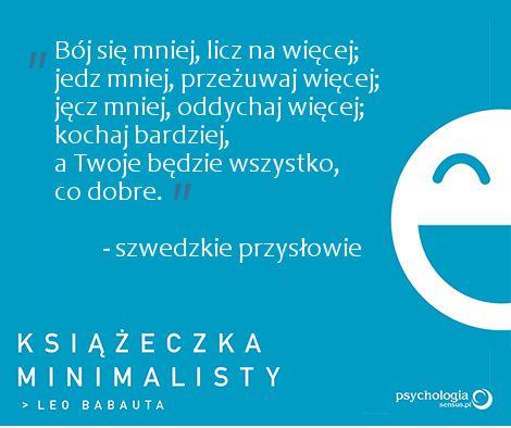 """Cytat z """"Książeczki minimalisty"""" Leo Babauty"""