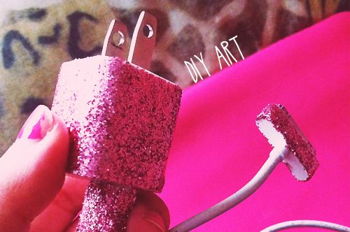 DIY Art: Glitter iPhone Charger | College Gloss...OMG   # Pin++ for Pinterest #