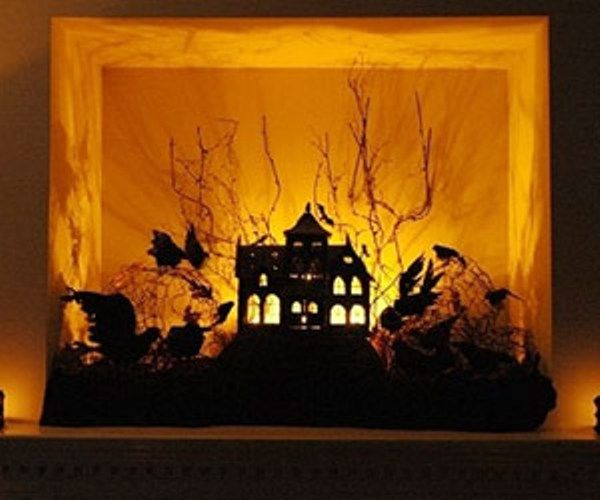 No pattern, unfortunately, but great idea for a Hallowe'en shadow box using twigs from the yard and black card silhouette