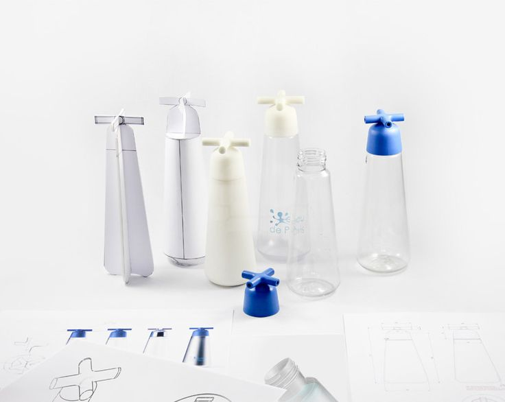 sismo models water bottle tap to look like kitchen sink knobs