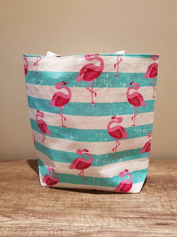 Check out this item in my Etsy shop https://www.etsy.com/au/listing/265185370/handmade-flamingo-tote-bag-with-pink