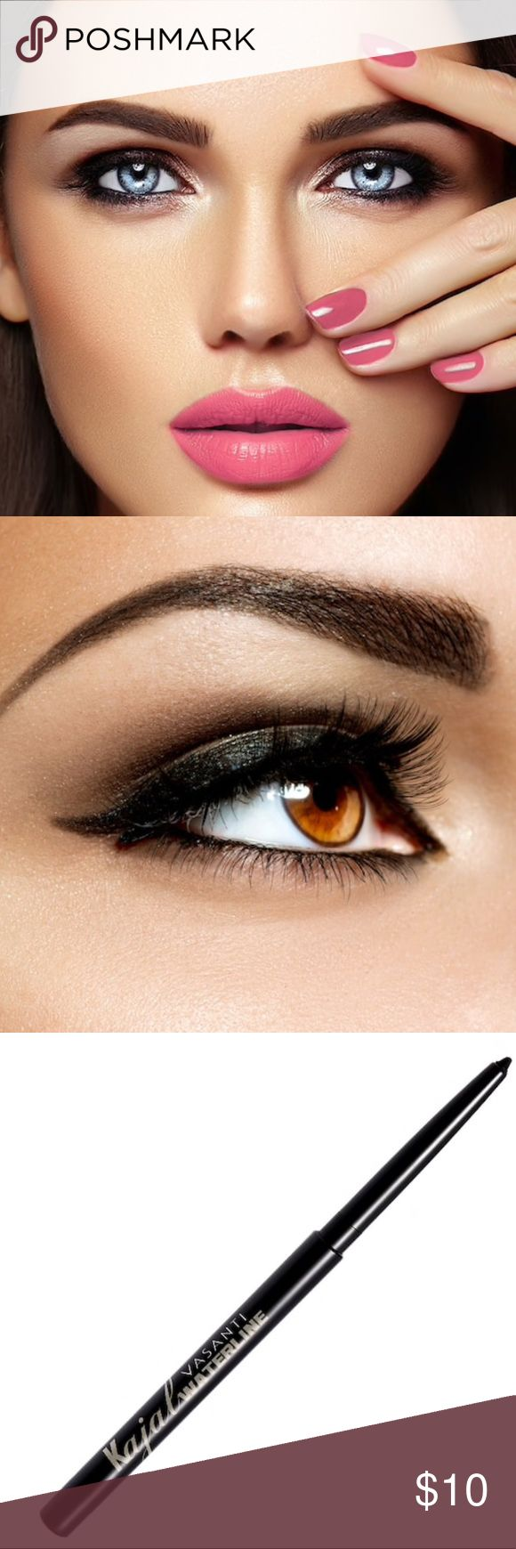 Kajal Waterline Eyeliner Pencil Gives you a defined, natural look that makes lashes appear fuller and longer while brightening your eyes for a youthful but polished gaze. Uses a creamy, easy glide formula that offers one-stroke colour and a velvety matte finish that lasts all day even on the wet rims of your eyes. Safe to use on delicate eye areas. Cruelty-free. Vegan-friendly. Gluten-free. Paraben free. Dermatologist and Ophthalmologist tested and approved. Made in Canada. NWOT. Color…