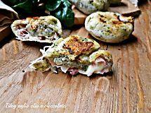 focaccine cicoria pancetta e scamorza-ricetta semplice e veloce