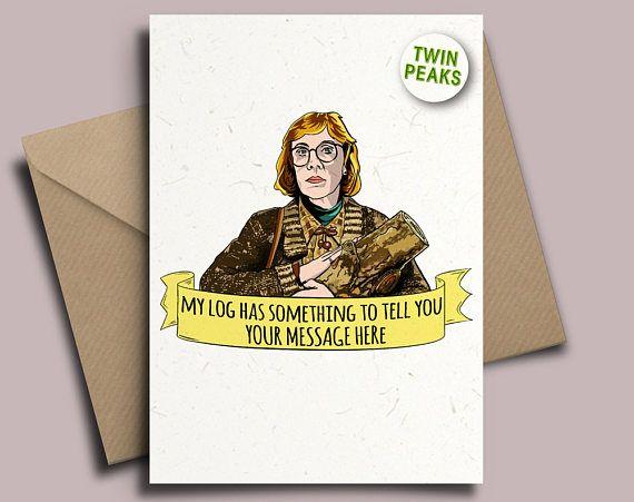 Twin Peaks The Log Lady David Lynch Personalised Birthday Card