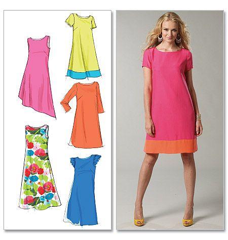 M6465, Misses' Dresses