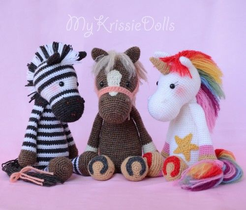 Amigurumi Knitted Animals : Best 25+ Crochet horse ideas on Pinterest Crocheted ...