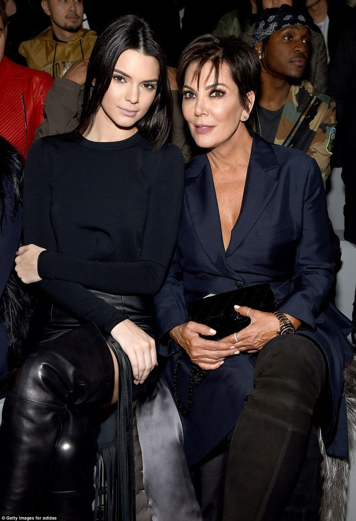 Mama is so proud: Kris, who divorced Bruce Jenner in December, sat with her daughter who is on the cover of the new issue of Allure magazine