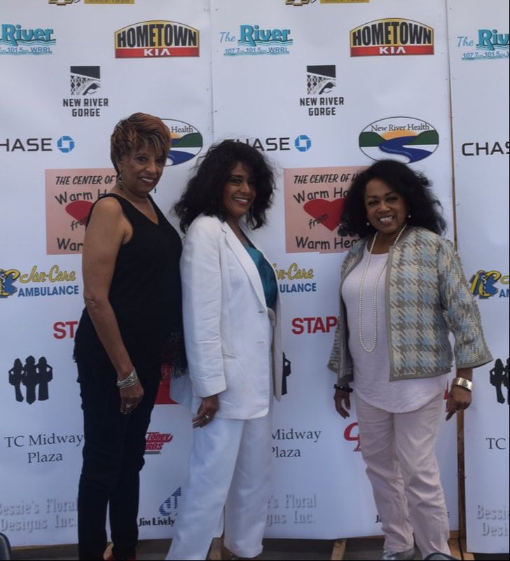former ladies of the supremes l r joyce vincent scherrie payne and susaye greene at a meet and greet at king coal chevrolet durin joyce vincent new river lady pinterest