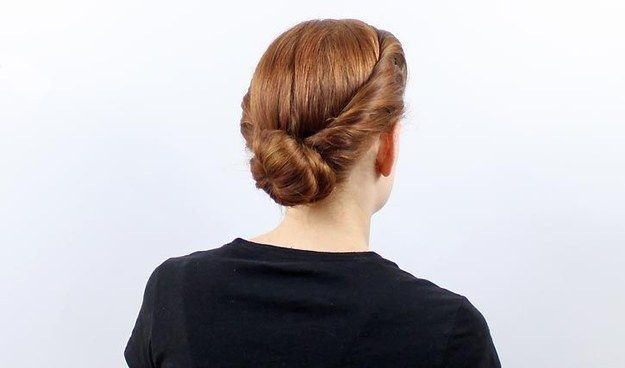 Roll in the sides for a more romantic look. | 21 Ridiculously Easy Hairstyles You Can Do With Spin Pins