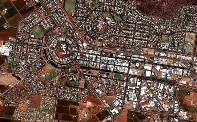 Griffith is a city in south-western NSW. Like Canberra and the nearby town of Leeton, Griffith was designed by Walter Burley Griffin, which is why it looks so amazing from the air. Griffith was named after Arthur Hill Griffith the first NSW minister of Public Works.