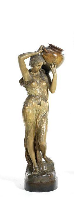 Gross for Goldscheider 'The Water Carrier' a Large Figural Art Nouveau Study, circa 1900