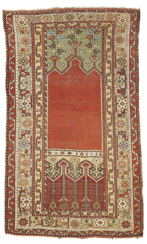 "Antique Ladik Prayer Rug From Turkey 4'x 6'6"""