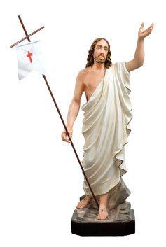 Gesù risorto cm. 85 altezza cm. 85 in resina vuota disponibile anche in vetroresina dipinto con colori acrilici e finiture ad olio disponibile anche con occhi di vetro  http://www.ovunqueproteggimi.com/collezione-statue/ges%C3%B9/risorto/