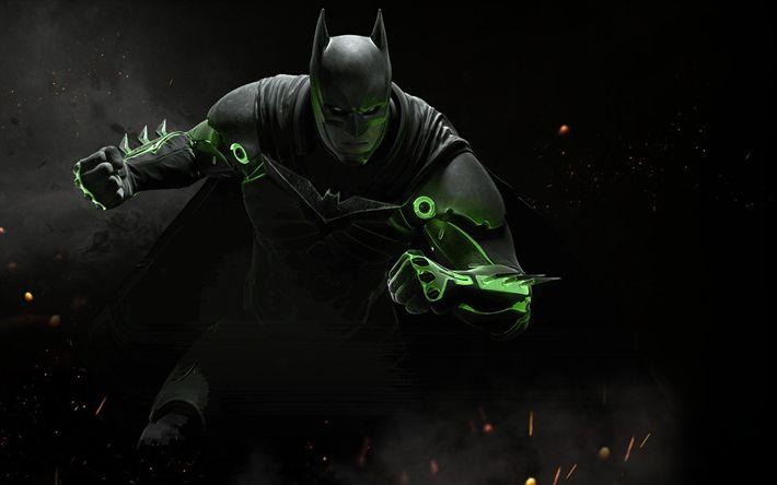 Download wallpapers Batman, fighting, 2017 games, Injustice 2