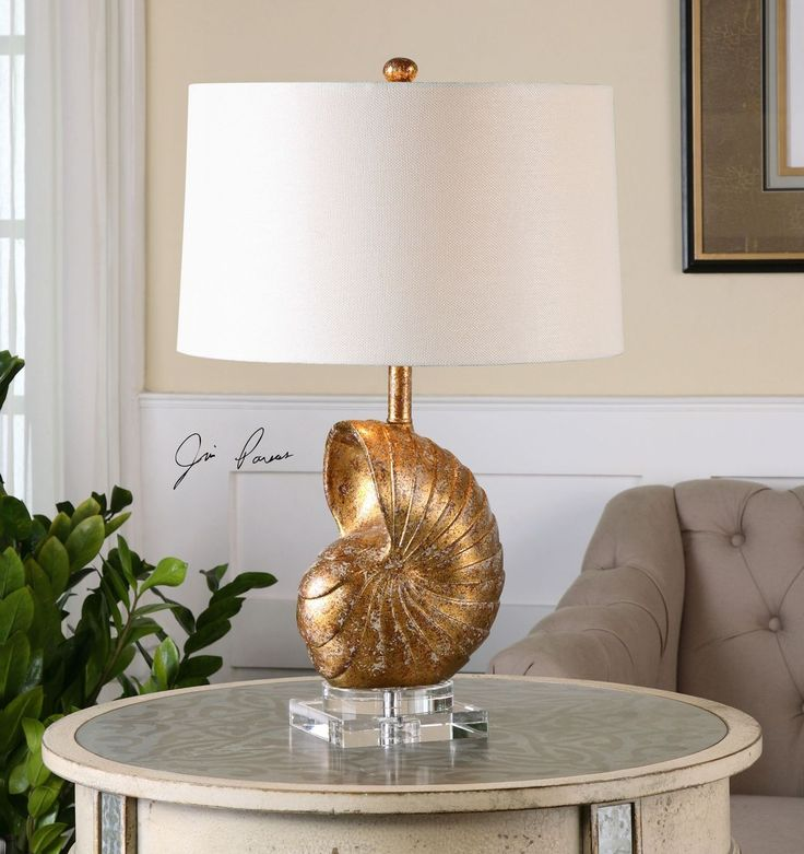 416 best coastal luxury glam style images on pinterest glam gold nautilus shell table lamp aloadofball Choice Image