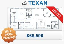 Texan metal house kit steel home