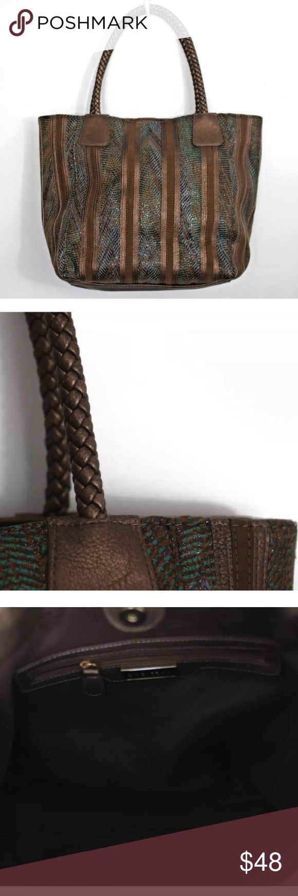 """Big Buddha bronze Tote Bag Height 13"""" x Length 18"""" x Depth 7"""" . Material is Faux Leather . New with tag. Big Buddha Bags Totes"""
