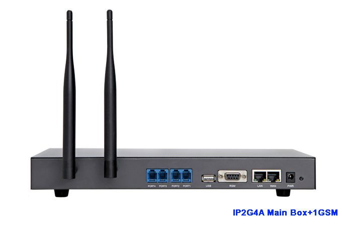 ATCOM IP2G4A-1G GSM IP Asterisk PBX Ready Analog SIP IAX2 Server  with 1GSM Module Supports up to 2 GSM and 4 FXO/FXS