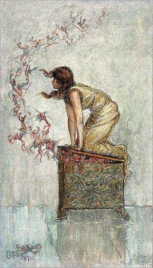 Frederick Stuart Church (1842 – 1924)Opening Of Pandora's Box