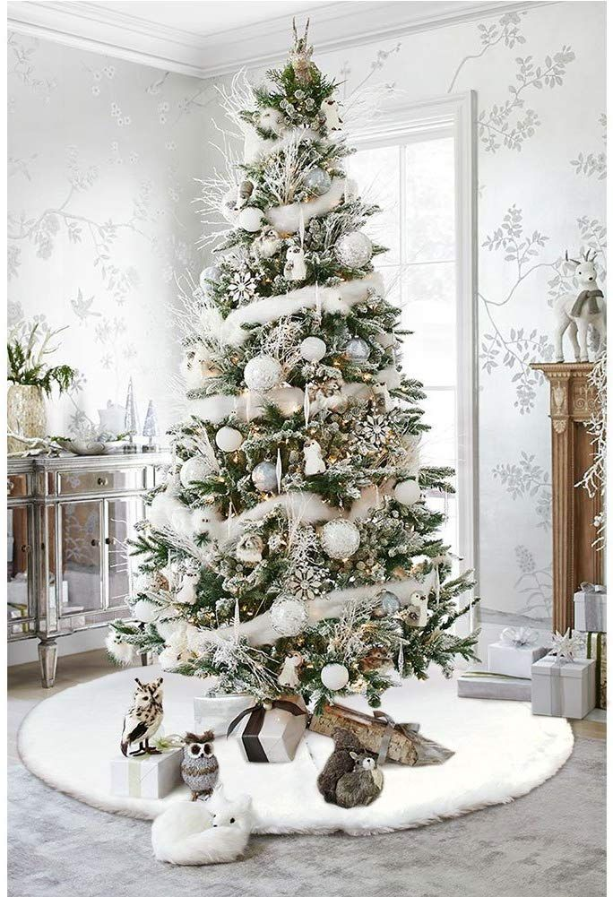The Best Christmas Decorations On Amazon Stylish Festive White Christmas Tree Decorations Xmas Tree Decorations Gold Christmas Tree