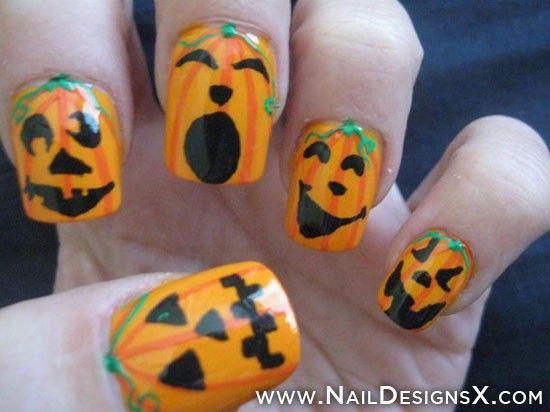 crazy halloween nail design - Nail Designs Nail Art - 50+ Best Halloween Pumpkin Nail Art Images By Cute Marina On