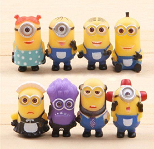 5cm 8pcs Despicable Me 2 Minions Doll Decoration Toys Gift @ niftywarehouse.com #NiftyWarehouse #Minions #DespicableMe #Minion #Movie #Movies #Kids