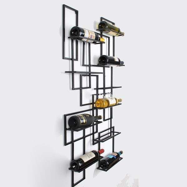 Online Shop Creative Home Fashion Wrought Iron Wine Rack Wall