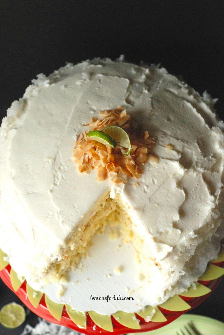 Coconut Key Lime Cake - Lemons for Lulu