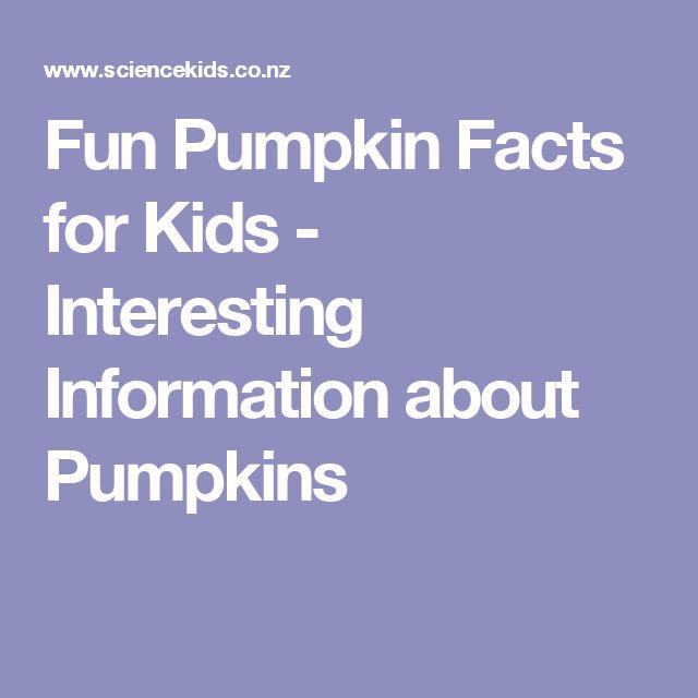 Fun Pumpkin Facts for Kids - Interesting Information about Pumpkins