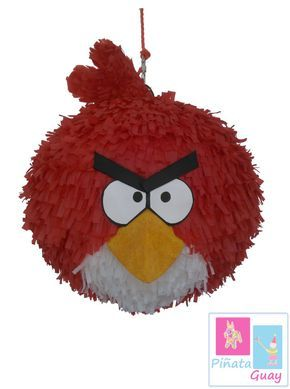 Piñata de Angry Bird. Red bird por PinataGuay en Etsy