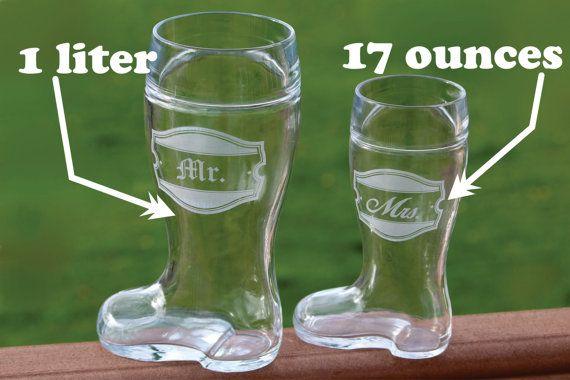 NEW 1 Custom Engraved 17 ounce Beer Boot Das by Dustyroadgurl