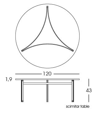 Scimitar Table 2D   Fabricius & Kastholm for bo-ex furniture. http://www.bo-ex.dk/project/scimitar-chair/